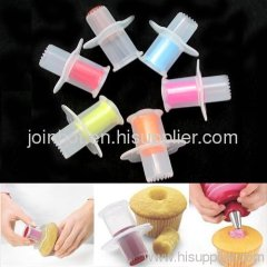 2.1CM*3CM silicone FDA cake mould Cupcake Corer Pastry Decorating Tool free shipping
