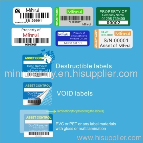Custom Property Labels Asset Labels Water Amp Oil Proof Or