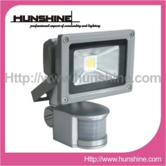 10W Integrated Motion Sensor Outdoor LED Flood light
