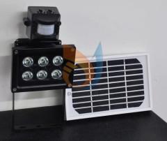 10W Solar panel powered LED PIR Sensor Light