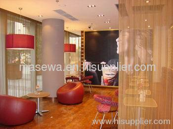 golden metal curtain screen partition