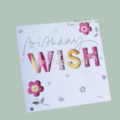 Wish card congratulations card