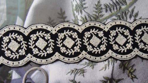 Embroidery lace black 3.5cm