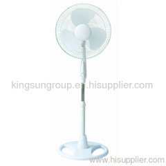 stand fan with white color