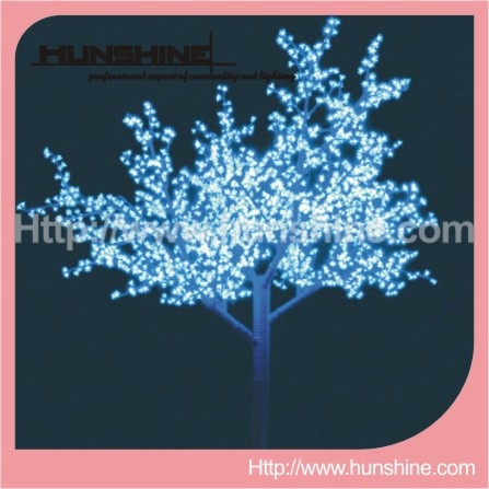 Outdoor Decorative Christmas Lighted Trees And Flowers