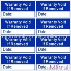 waranty void labels