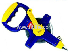 Open Reel Long Fiberglass Measuring Tape with Dual color ABS case