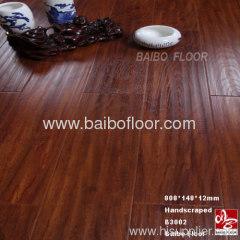 Handscraped Finish Laminate Flooring 12mm