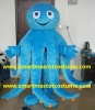 blue octopus mascot costume