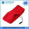 Red color cotton elastic head band with earphone