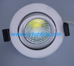 7W Aluminium Round adjustable COB LED ceiling soptlight