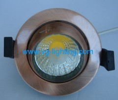 7W Aluminium Round adjustable COB LED ceiling soptlights