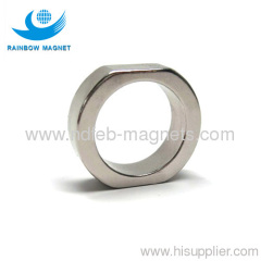 Neodymium magnet with irregular ring