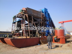 China bucket type gold dredger for sale