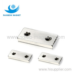Rare Earth Ndfeb Magnet thin rectangle with hole