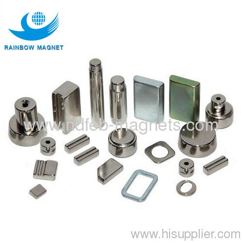 Permanent neodymium Iron Boron magnets with difference shape