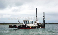 Hydraulic and mechanical sand dredging machine