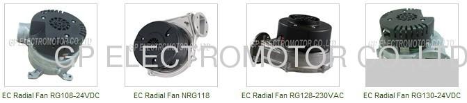 230V EC Premixed Radial Blower with brushless dc motor for condensing boiler