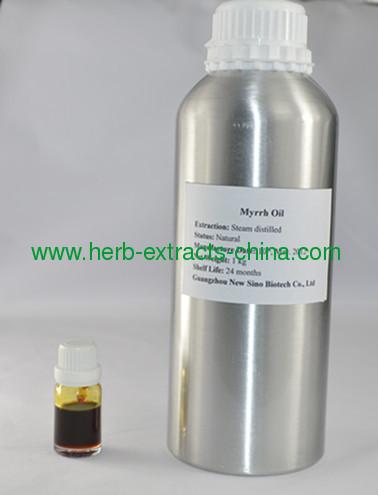 100% Pure Essential Oil Myrrh Oil from Commiphora Myrrha China Producer