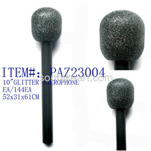10 TOY GLITTER MICROPHONE