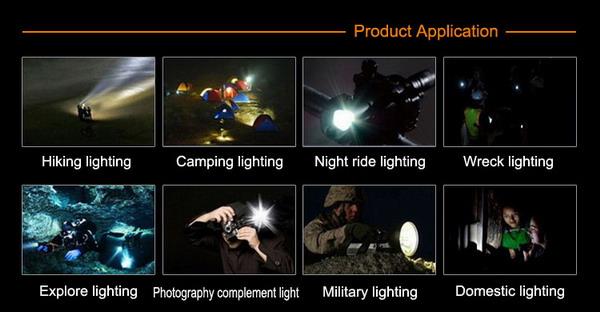 10W UltraBrightness Patrol Lamp XREE XM-L T6 Bulb Used ACK-1135