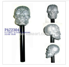 silver color halloween glitter microphone