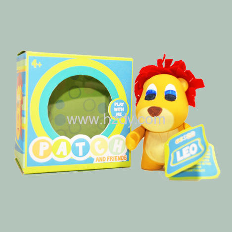 Paper box packaging for toy with a window