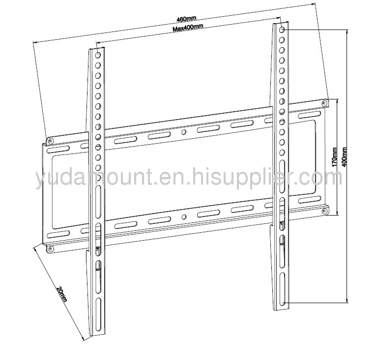fixed lcd tv wall mount bracket for 25 -47 screens