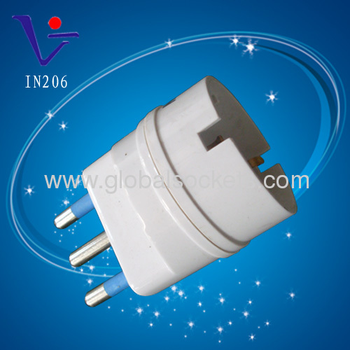 White Italy style universal laptop adapter plug