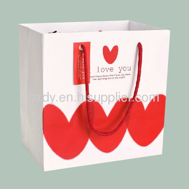 Personalized paper bag with handle