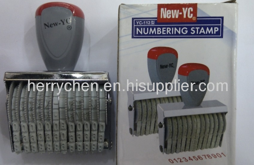 Rubber Number Stamp