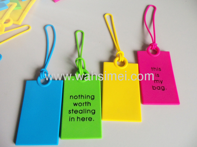 2012 Customized silicone luggage card tag for promotion
