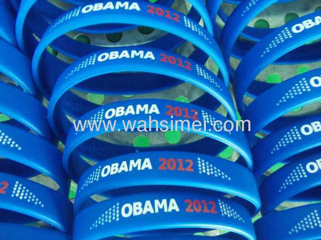 Fashion Silicone Wristband with logo customized