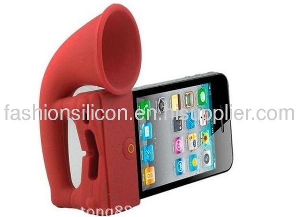 Hot fashion silicone mobile phone speaker