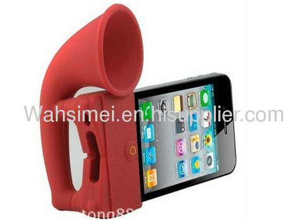 Hot selling silicone speaker for iphone5
