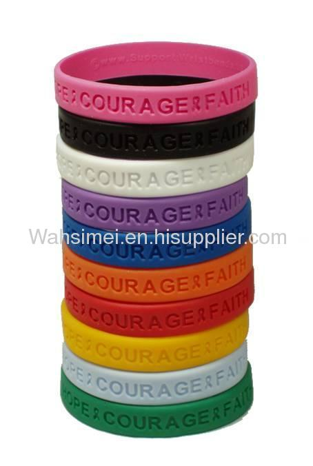 Hot sale personalized printed silicone wristband for promotional gift