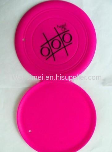 Customized logo printing silicone flying frisbee