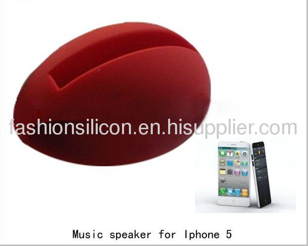 Silicone speaker cases for phone 5,silicon iphone horn