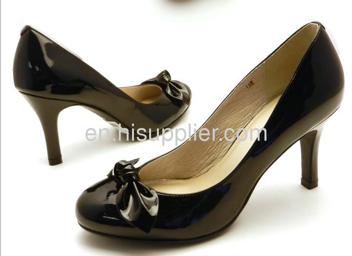 ladies black high heel dress shoes