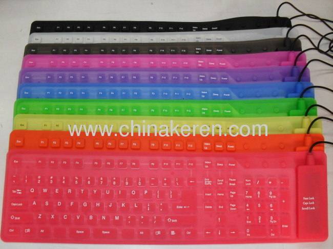 2012 flexible silicone 109 keys keyboards