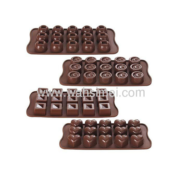 High quality Cute shape silicone chocolate mould