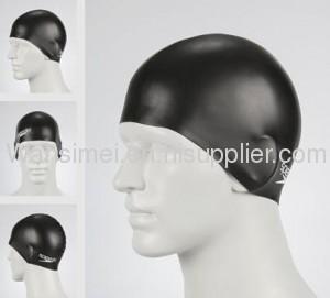 Super flexible swimming silicone cap