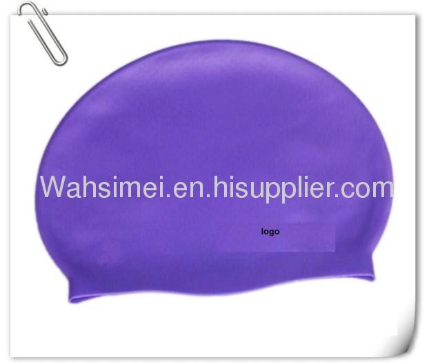 Waterproof fashionable silicone swim cap
