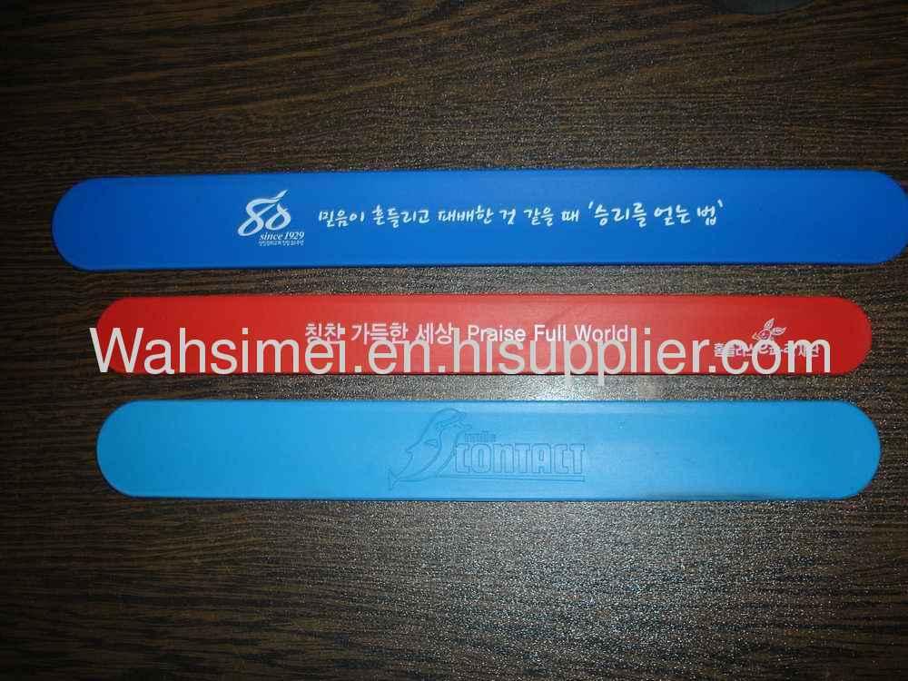 2012 New arrival promotion papa silicone sport bracelet