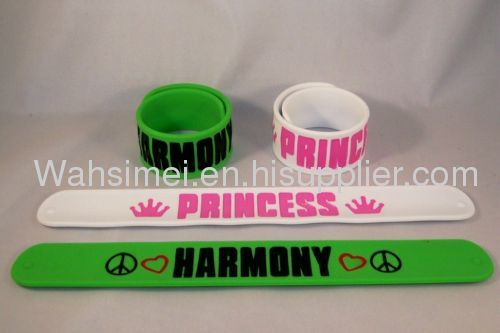 Funny silicone steel bracelet for gifts.silicone papa bracelet