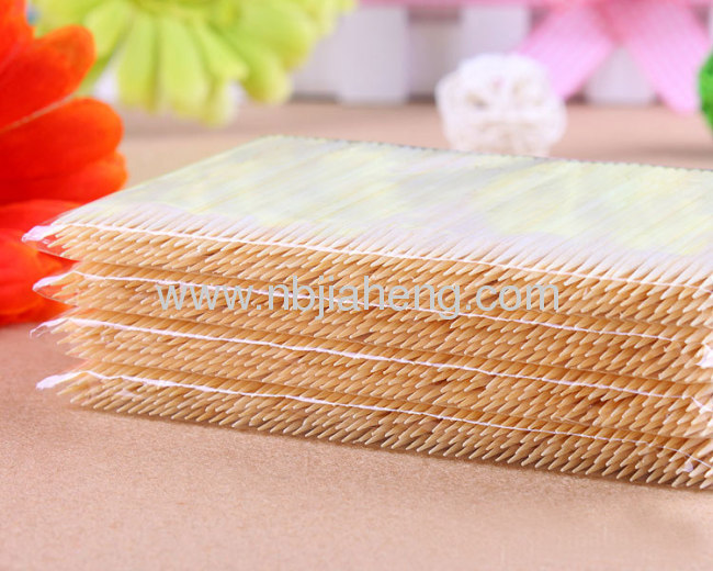 Double Sharp Bulk Bamboo Toothpick In Plastic Can