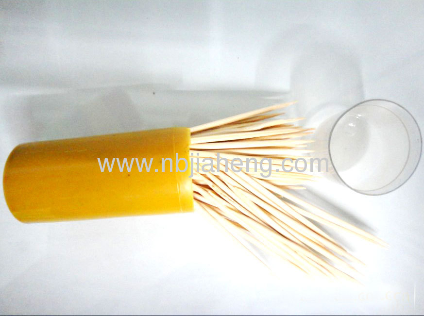 Wholesale High quality bamboo toothpick 65mm*2.0mm Products Banboo picks