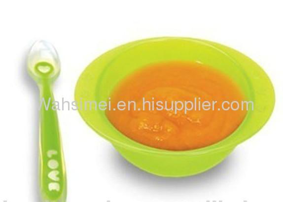 2012 fashion soft Silicone Baby Spoon