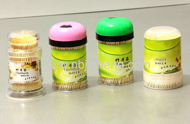 Wholesale Nautral Bamboo Toothpicks Set Toothpicks For Traveling 6.5CM