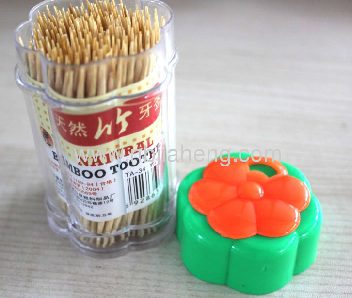 Wholesale Nontoxic Nautral Bamboo Toothpicks Set For Traveling 6.5CM